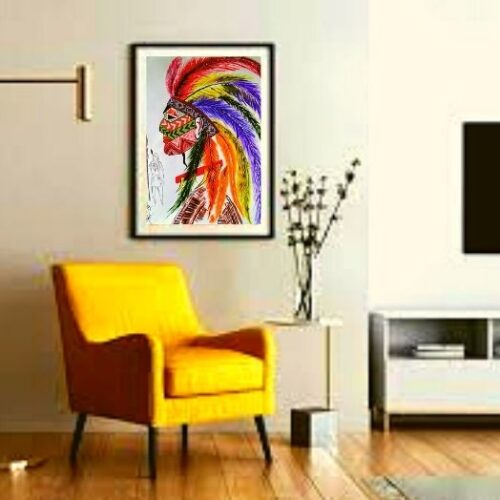 """""""red indian painting"""""""