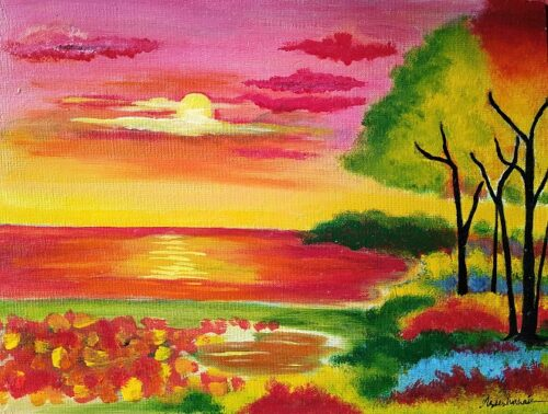 """""""abstract landscape painting"""""""