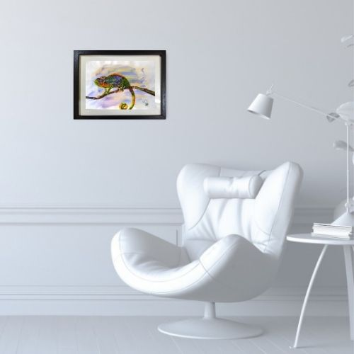 """""""colourful chameleon painting"""""""