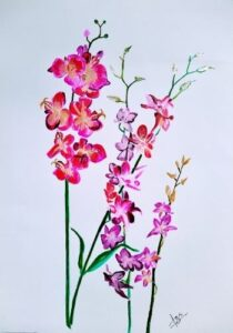 """""""orchids feng shui painting"""""""
