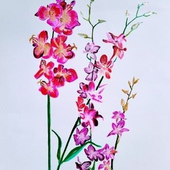 """orchids feng shui painting"""